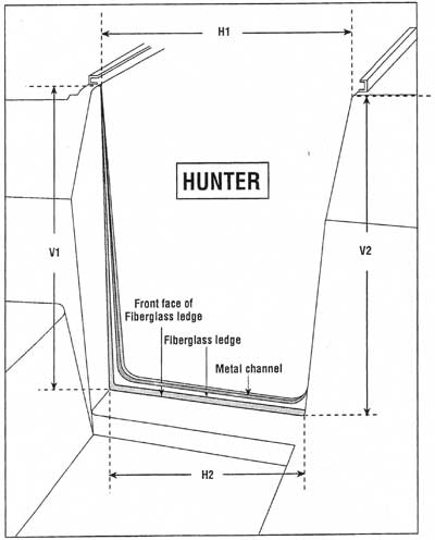 Measure for Hunter and Similar replacement companionway doors